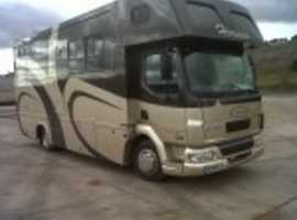 DAF 7.5 ton Horse Truck. Stalled for 3 with smart living. Low mileage