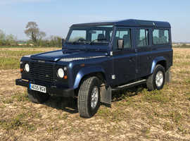Land Rover 110 DEFENDER COUNTY SWTDI, 2005 (05) Blue Estate, Manual Diesel, 74,000 miles