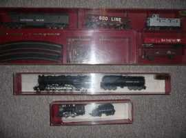 Rivarossi Rare Model Railway Items-3 American, Engines c/w Tenders, Rolling Stock and Rails VGC