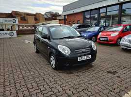 Kia Picanto, 2008 (57) Black Hatchback, Manual Petrol, 82,152 miles