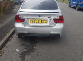 BMW 3 Series, 2007 (07) Silver Saloon, Manual Diesel, 152,176 miles