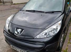 Peugeot 207, 2007 (57) Black Hatchback, Manual Petrol, 117,571 miles