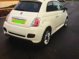 Fiat 500, 2014 (14) White Hatchback, Manual Petrol, 81,561 miles