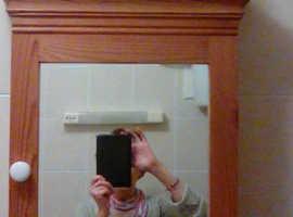 Solid pine bathroom cabinet