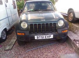 Jeep Cherokee, 2001 (51) Green Estate, Manual Diesel, 137807 miles