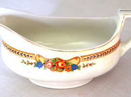 Sauce boat Grecian floral pattern circa 1920