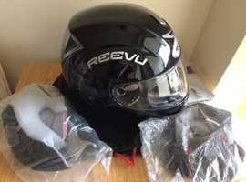 Reevu RV MSX1 Rear View Vision Full Face Motorcycle Helmet – Black Great condition very small dink