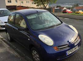 Nissan Micra, 2005 (05) Blue Hatchback, Manual Petrol, 99,000 miles
