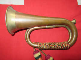 Vintage Copper & Brass Military Bugle Horn