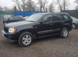 Jeep Grand Cherokee, 2005 (55) Black Estate, Automatic Diesel, 123,000 miles