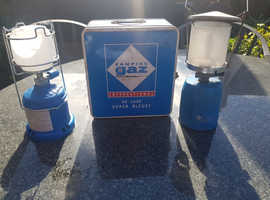 Campingaz International De Luxe Bleuet Stove, 2 Lanterns and 2 Gas Canisters