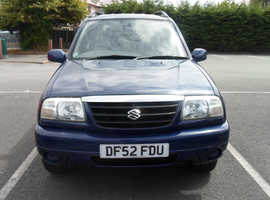 Suzuki Grand Vitara, 2003 (52) Blue Estate, Manual Petrol, 61,900 miles