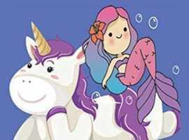 unicorn and mermaid Learn to write numbers