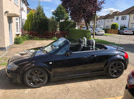 Audi TT, 2004 (54) Black Convertible, Manual Petrol, 25,000 miles