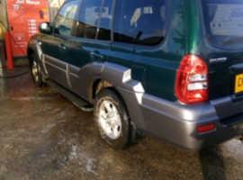 Hyundai Terracan, 2006 (56) Green Estate, Manual Diesel, 135,000 miles
