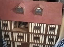 Vintage Amazing Tudor Style Handmade 12 Room Dolls' House Unique Collectable Display Practical Item vgc