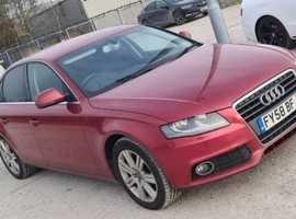 Audi A4, 2008 (58) Red Saloon, Manual Diesel, 159,000 miles