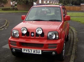 Suzuki Jimny, 2007 (57) Red Estate, Manual Petrol, 61,000 miles