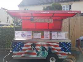 Food catering cart trailer