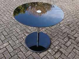 Circular Black Glass Table