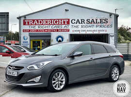 2014/14 Hyundai i40 1.7 CRDi Style Estate Automatic finished in Mineral Grey Metallic.  67715 miles