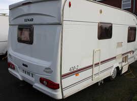 Lunar Clubman 2003 470-2 2003 2 Berth Caravan + Full Isabella Awning