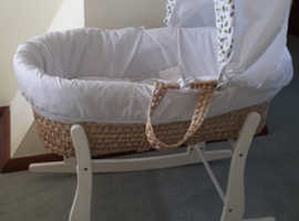 Moses Basket.  Lovely condition