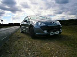 Peugeot 207, 2009 (09) Grey Convertible, Manual Petrol, 39,500 miles