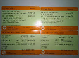 ST AUSTELL CORNWALL PLYMOUTH TO MANCHESTER / WIGAN NORTH OPEN RETURN TRAIN TICKET WITH SEAT RESERVATIONS