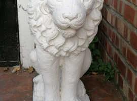 LARGE STONE LIONS