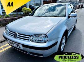 Volkswagen Golf, 2002 (51) Silver Hatchback, Manual Petrol, 121,236 miles