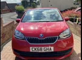 Skoda Citigo, 2018 (68) Red Hatchback, Manual Petrol, 8,446 miles