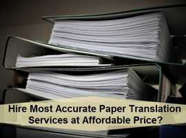 Hire Most Accurate Paper Translation Services at Affordable Price?