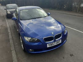 BMW 3 Series, 2008 (57) Blue Coupe, Manual Diesel, 115,800 miles