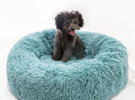 Calming Plush Dount Dog Beds