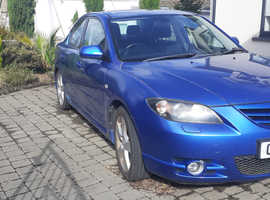 Mazda MAZDA 3, 2005 (55) Blue Saloon, Manual Petrol, 97,419 miles