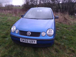 Volkswagen Polo, 2002 (02) Blue Hatchback, Manual Petrol, 133,300 miles