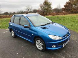 Peugeot 206, 2006 (56) Blue Estate, Manual Diesel, 84,000 miles £30 tax