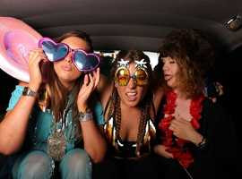 """Selfie in a Taxi"" Photo Booth, a great addition to your party or event!"