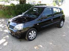 Renault Clio, 2008 (08) Black Hatchback, Manual Petrol, 125,204 miles