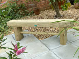 Brand New 1.7m 3/4-Seat Wooden Garden Sleeper Bench - Made To Order - Courier Service Available