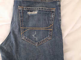 New mens hollister rip jeans