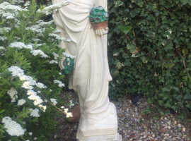 Exquisite Stone Angel.  In perfect condition with no flaws. Would grace any setting. Height: 3ft . 6in,