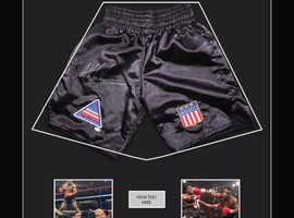 Mike Tyson autographed shorts. With authentication certificate.