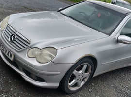 Mercedes 220, 2002 (02) silver coupe, Manual Petrol, 145000 miles