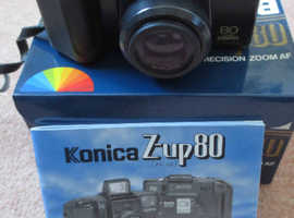 Konica Z-UP 80 Super Zoom 35mm Film Camera 40-80mm Zoom Lens