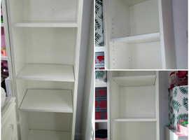 2 high bookshelfs