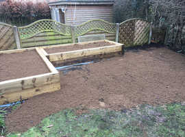 Sleepers and raised beds