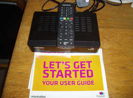MANHATTAN FREESAT SETOP BOX - USB -HDMI-REMOTE AND INSTRUCTIONS