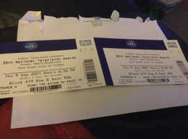 2 National Television Awards tickets for sale